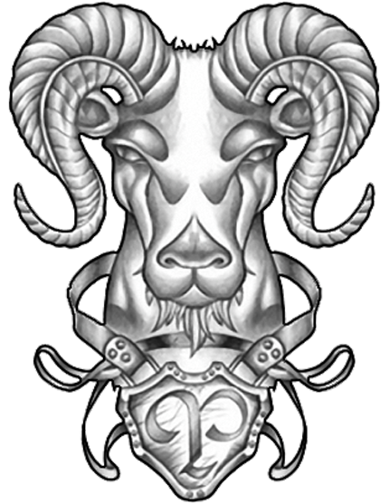 Aries Tattoo Design Sample