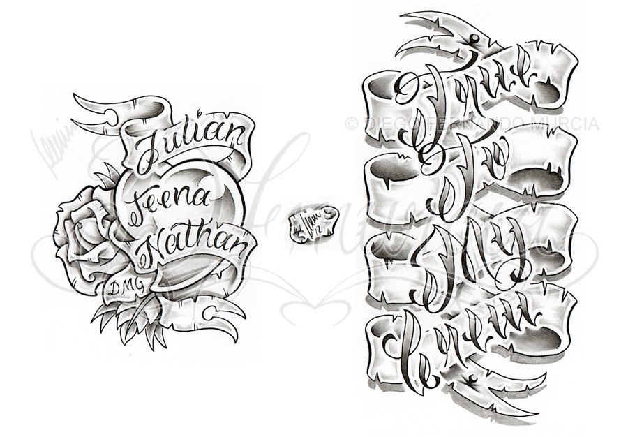 Banner Tattoo Designs Idea By Dfmurcia