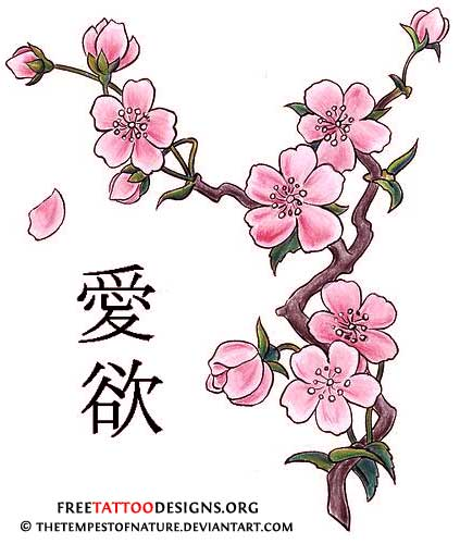 Cherry Blossom Tattoos Design Flash By  The Tempest Of Nature