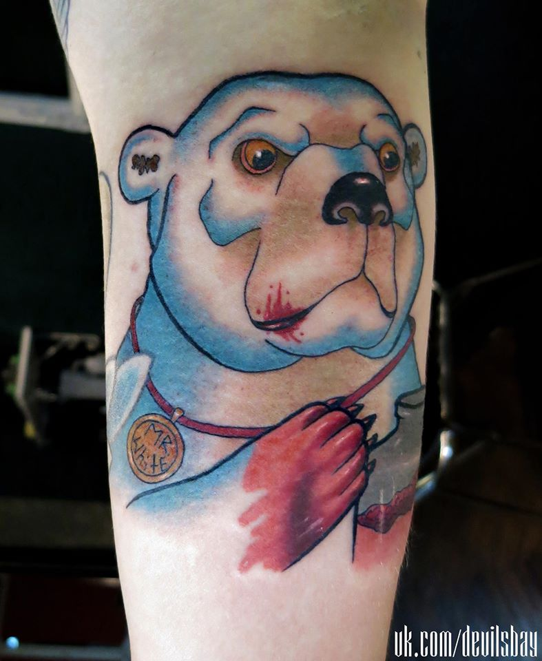 21 Catchy Black Ink Tattoos Designs By Hugo: Bear Tattoo Images & Designs
