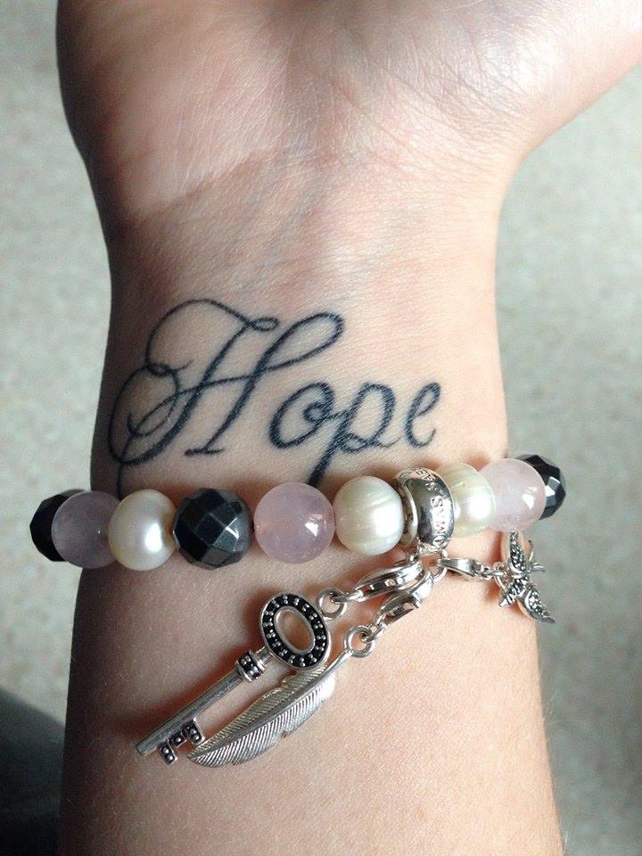 Cute Hope Wrist Tattoo