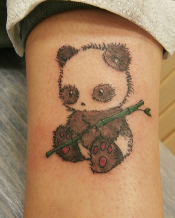 Cute Panda Tattoo Image