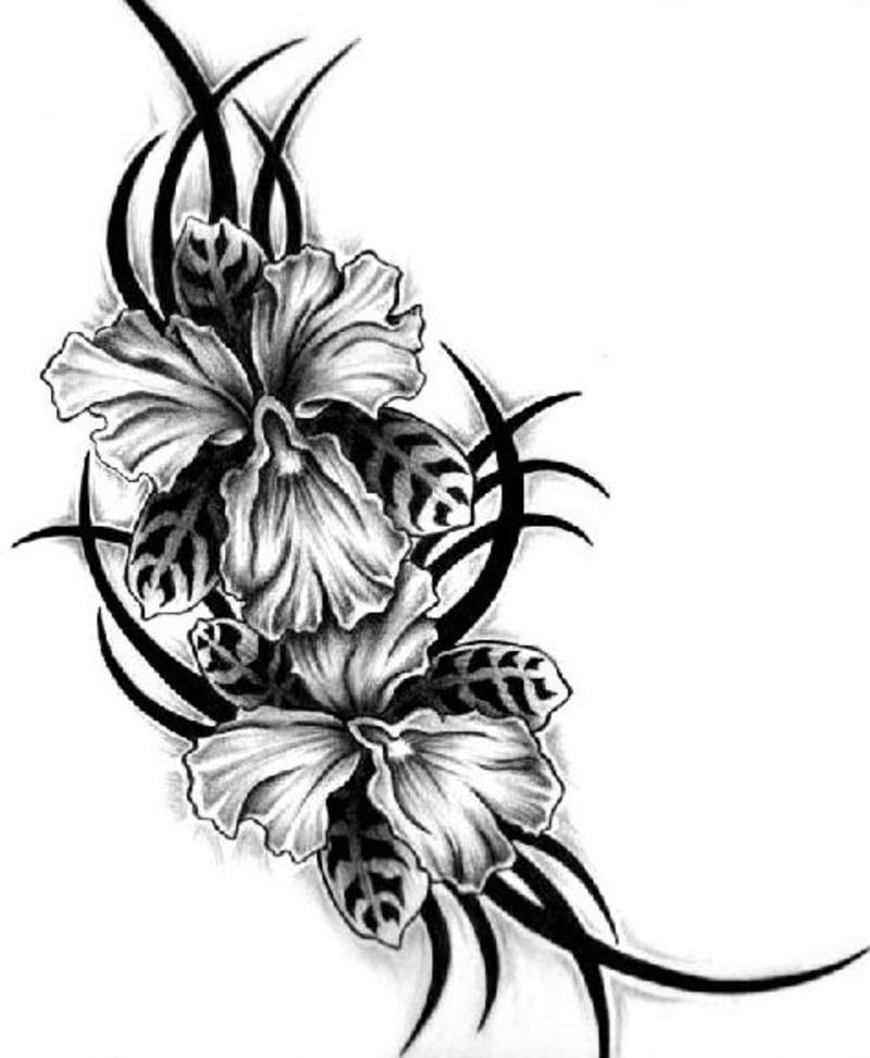 Floral Tattoo Design Idea