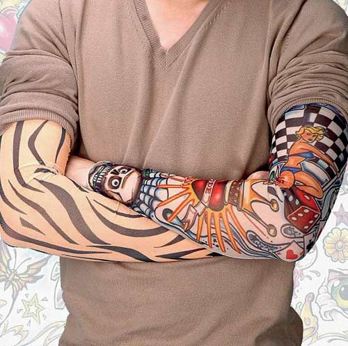 Funky Tattoo On Man Left Sleeve