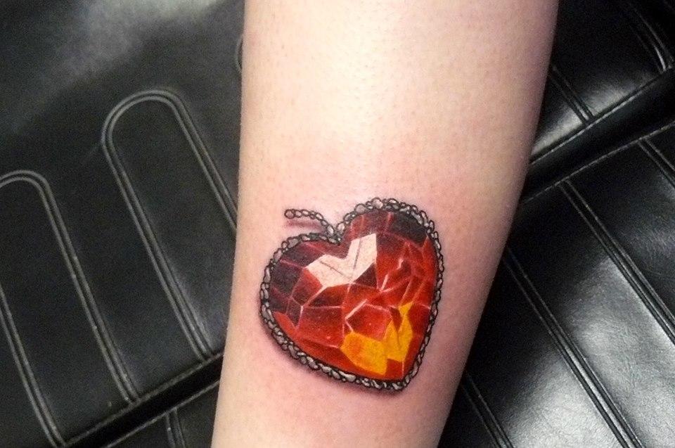 Gem Heart Tattoo Design