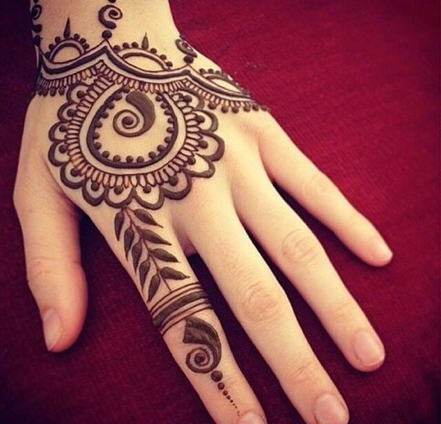 Elephant Hand Tattoo Henna Tattoo Design on Hand