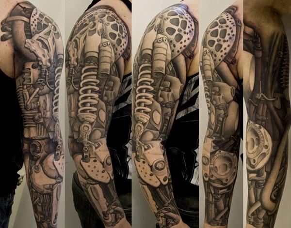 man full sleeve tattoo design idea