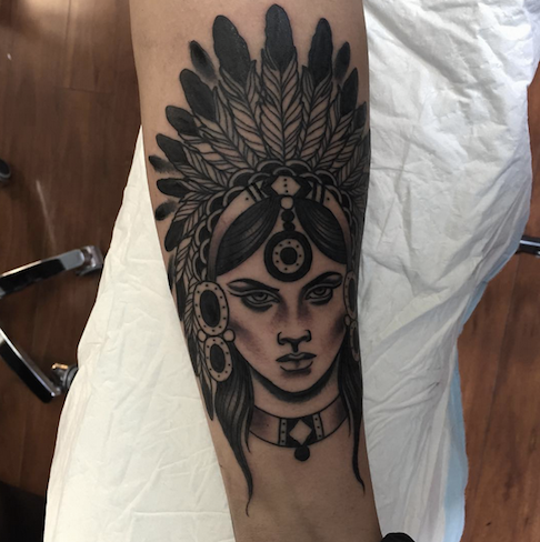 Native American Tattoo By Nerida Nicolson
