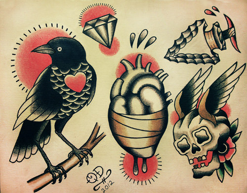 Old School Traditional Tattoo Designs