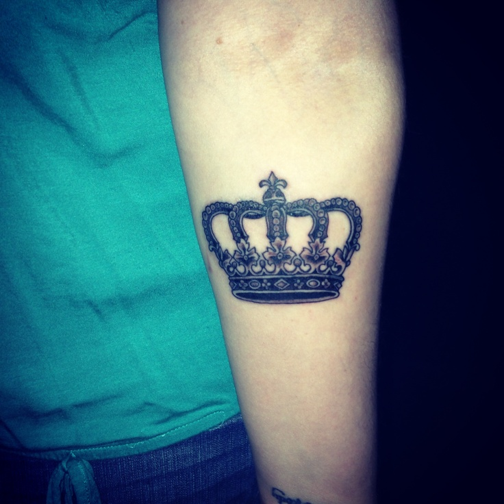 Queen Crown Tattoo On Arm
