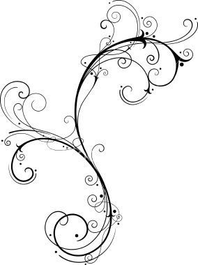 Swirl Vine Tattoo Design Idea