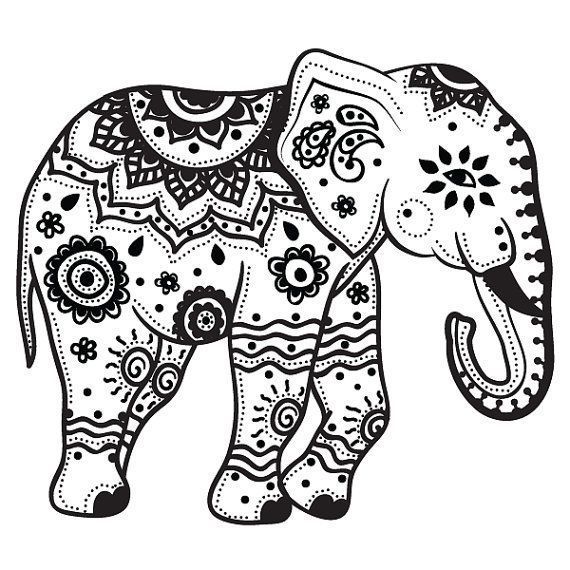 Traditional Elephant Tattoo Design By  Stayathome Gypsyshop