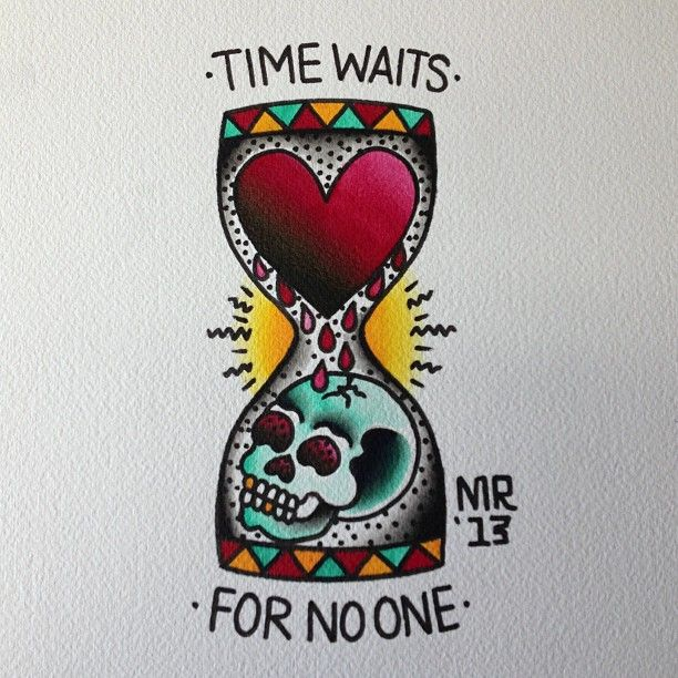 Traditional Hourglass Tattoo Design Idea