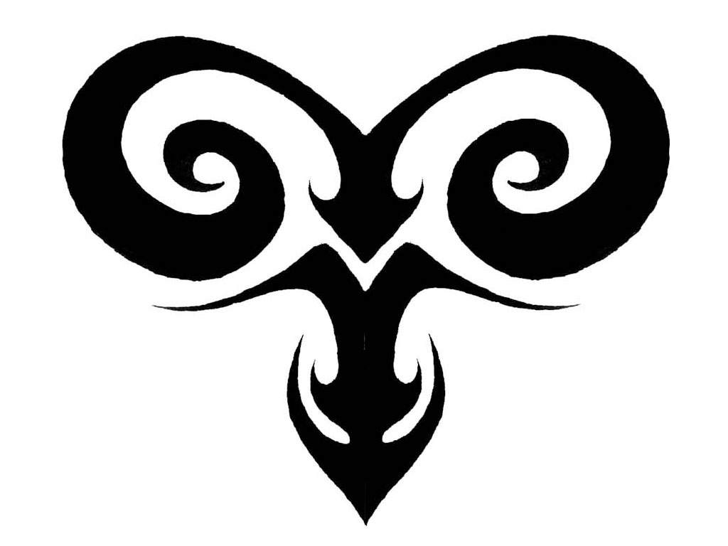Tribal Aries Tattoo Design Idea