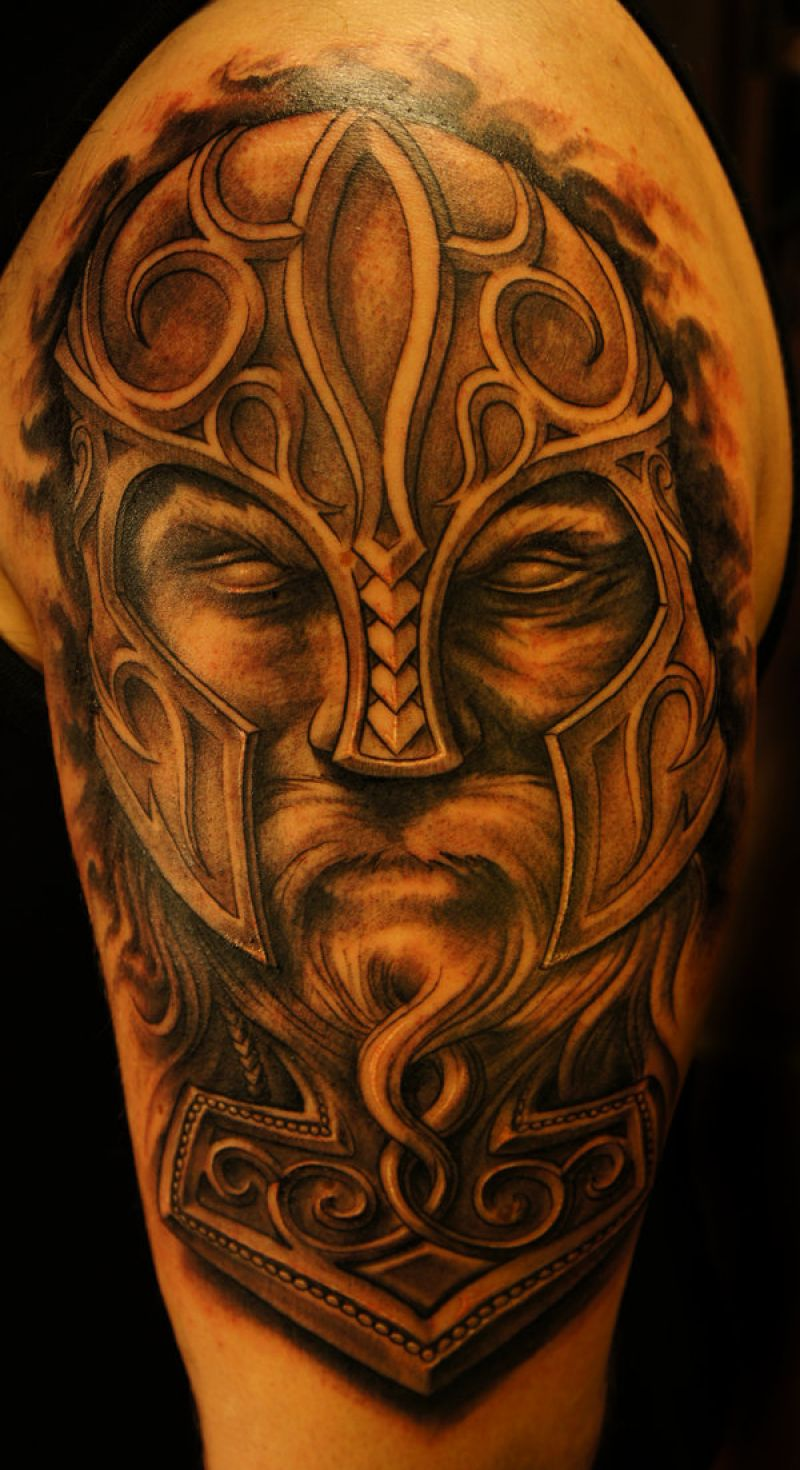 Viking Tattoo Design For Shoulder By Strangeris