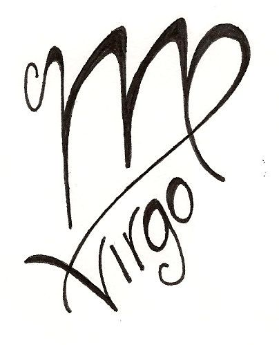 Virgo Zodiac Tattoo Design Sample