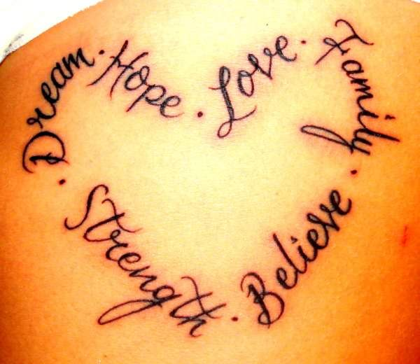 Word Tattoo Designs For Girls