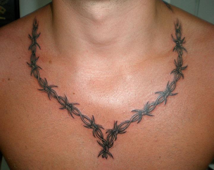 barbwire necklace tattoo design by tokmakhan - Necklace Design Ideas