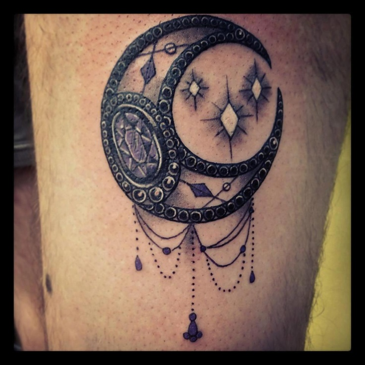 Beautiful Moon Tattoo Image