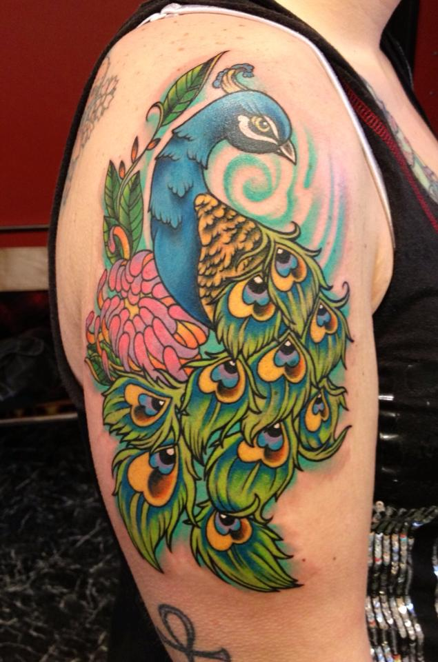 Peacock Tattoo Images & Designs