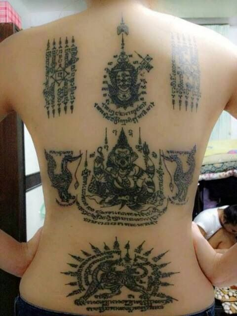 Beautiful Thai Tattoo On Full Back