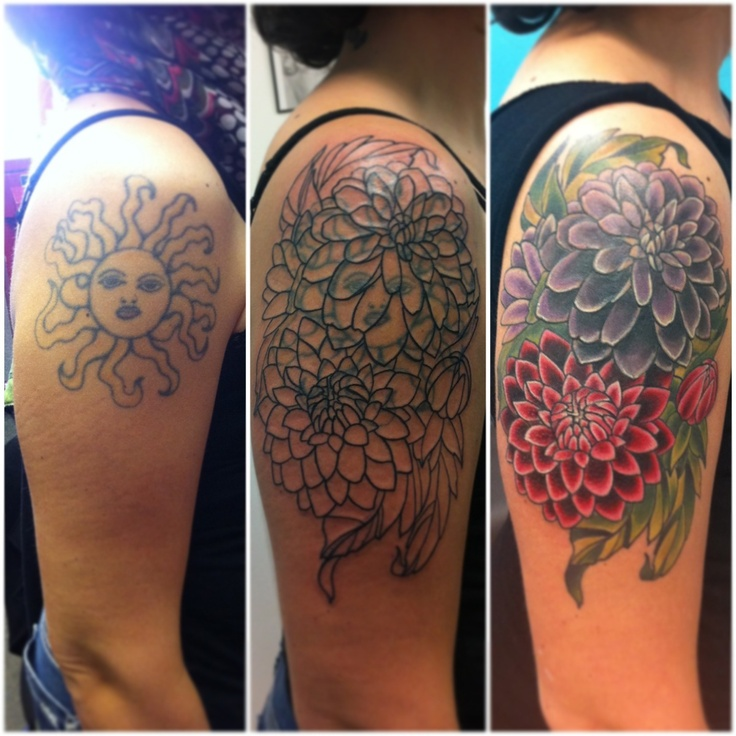 Cover Up Tattoo Design Idea For Girls