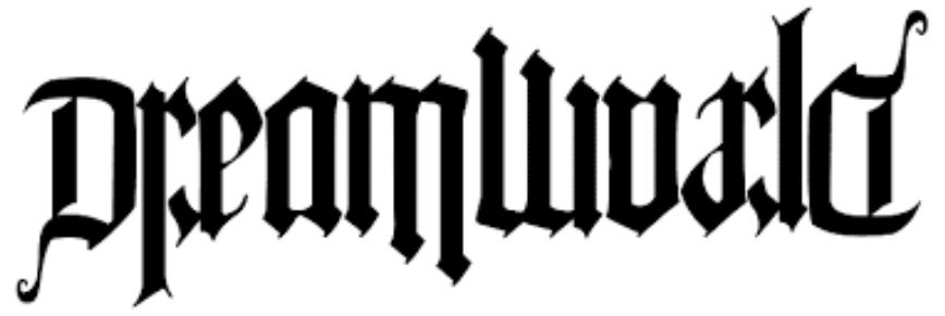 Dream World Ambigram Tattoo Design