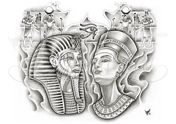 Gallery For gt Pharaoh Head Tattoo Design