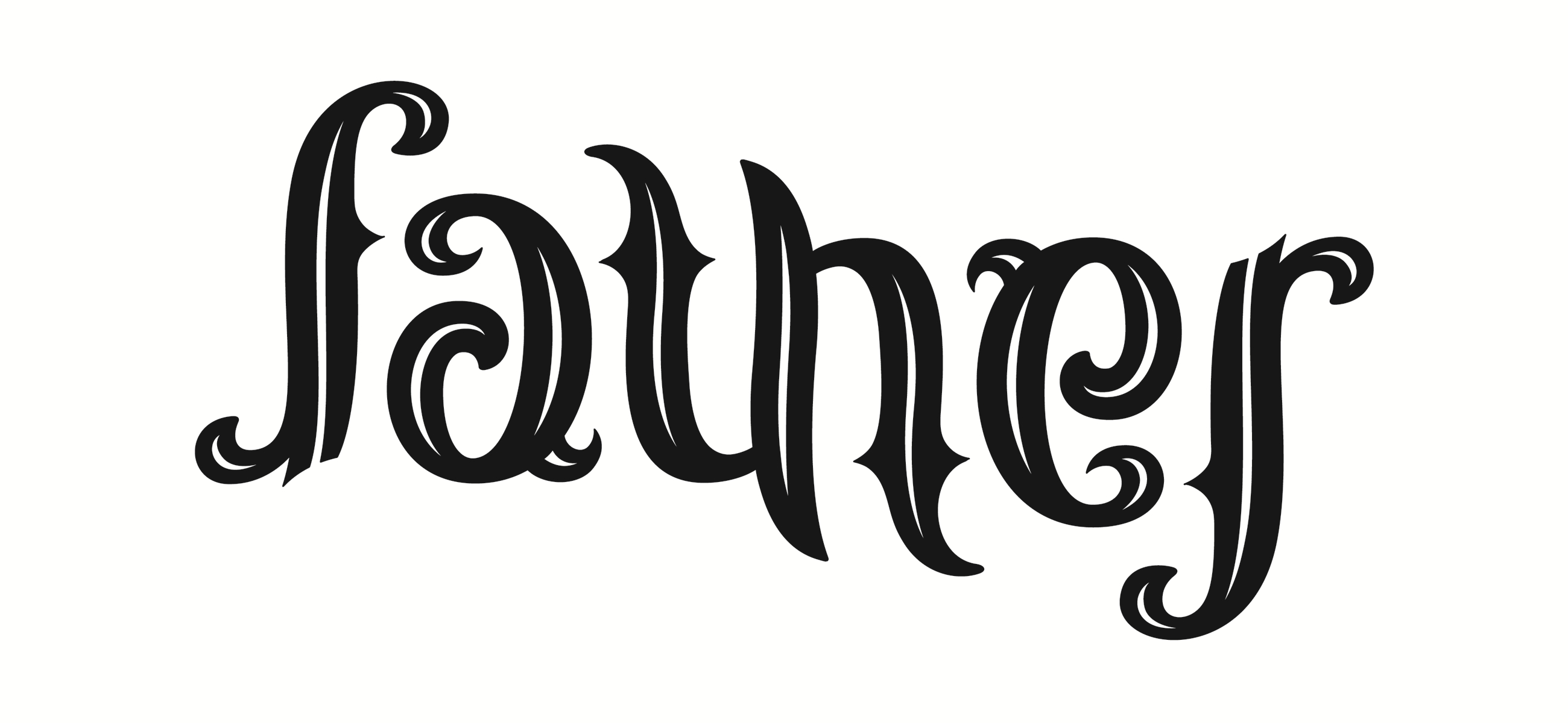 Father Ambigram Tattoo Design Idea