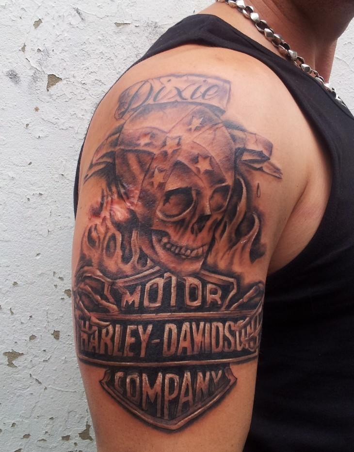 harley davidson tattoo images designs rh tattoostime com harley tattoo designs Harley Tattoo Gallery