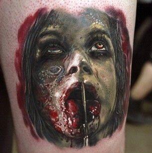 Horror Girl Tattoo Idea