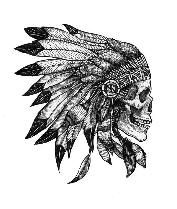Indian Tattoo Design Stencil