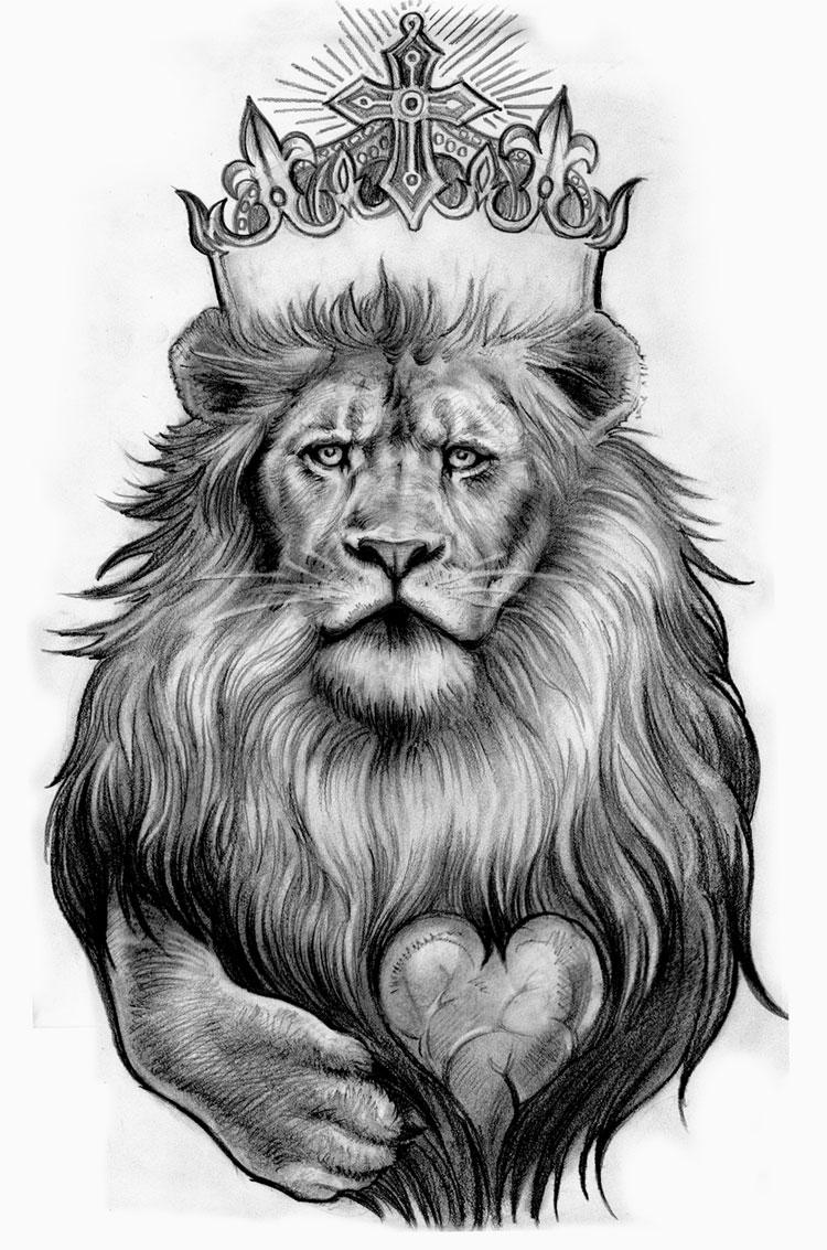 King Lion Tattoo Design Idea
