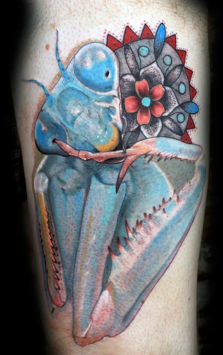 Mantis Tattoo Design Idea