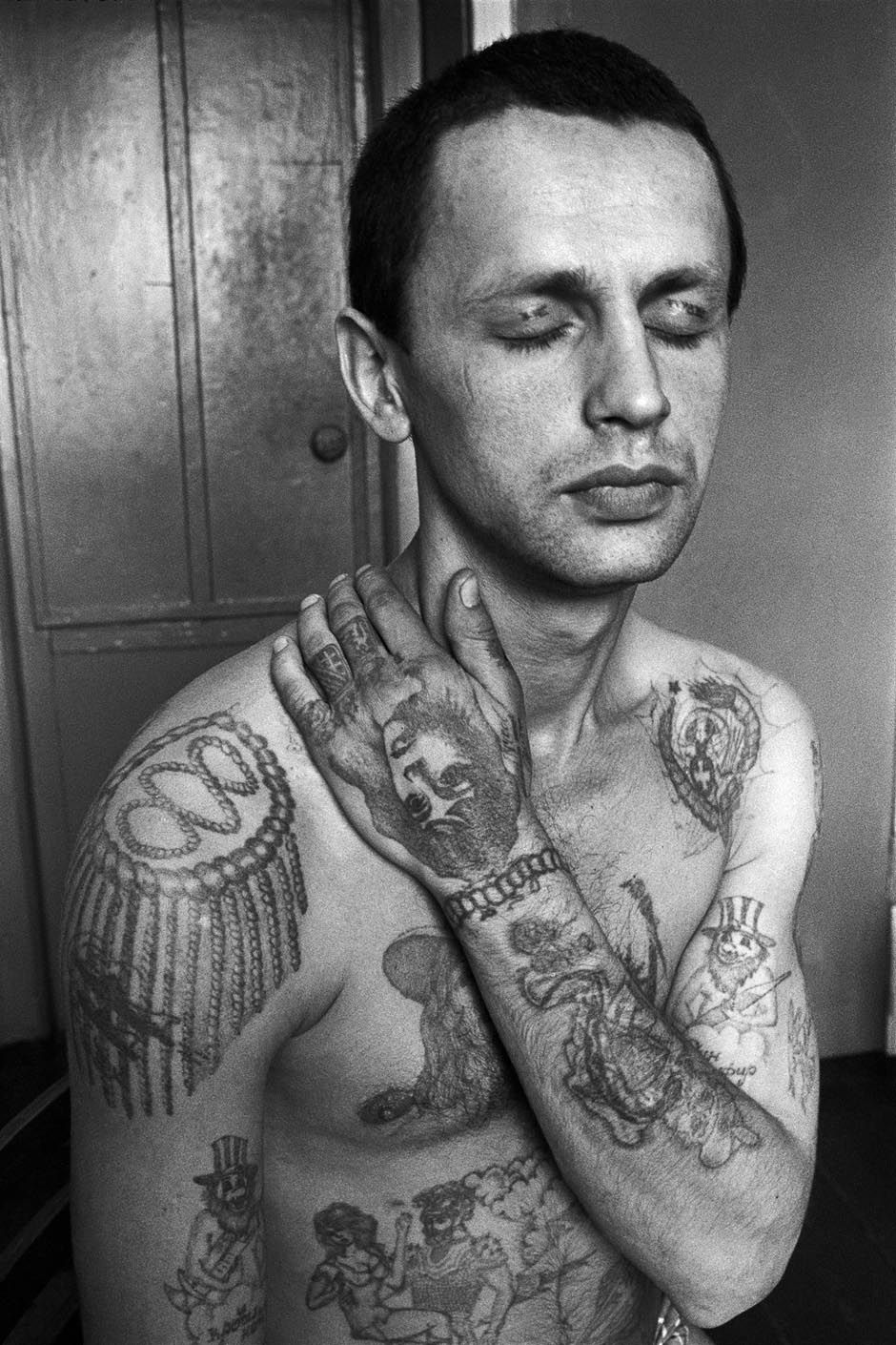 Russian Prison Tattoo Idea For Men