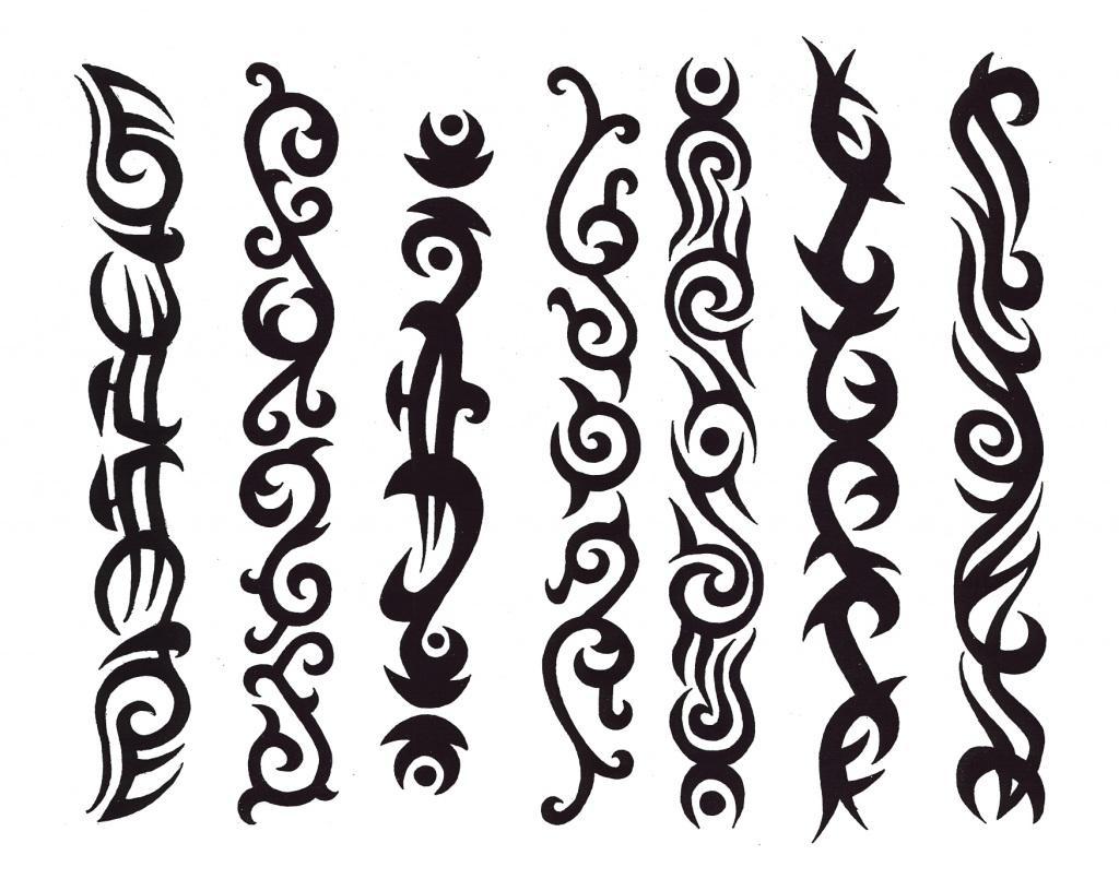 Tribal Band Tattoo Stencils