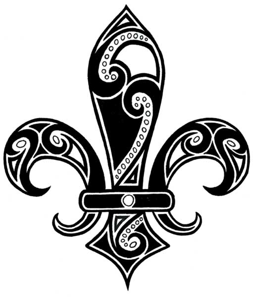 Tribal Fleur De Lis Tattoo by ladyserenity