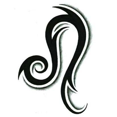 Zodiac Leo Tattoo Design Idea