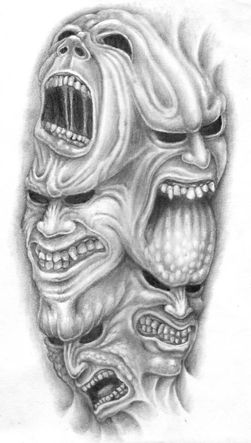 Zombie Demon Tattoo Designs