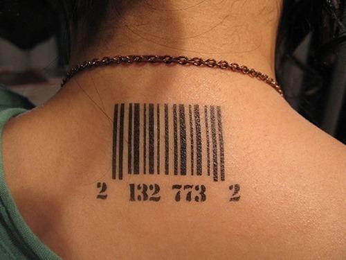 Barcode tattoo human galleryhip com the hippest galleries