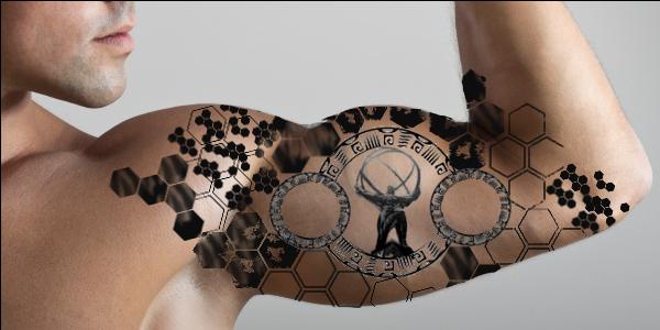 Science Tattoo On Man Right Bicep