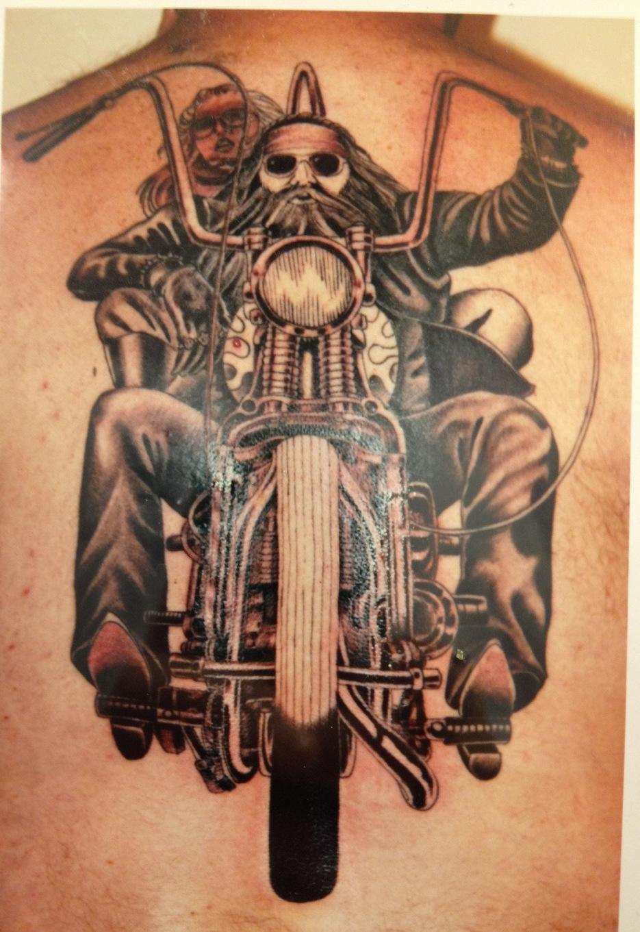 Biker Tattoo Design Idea For Men