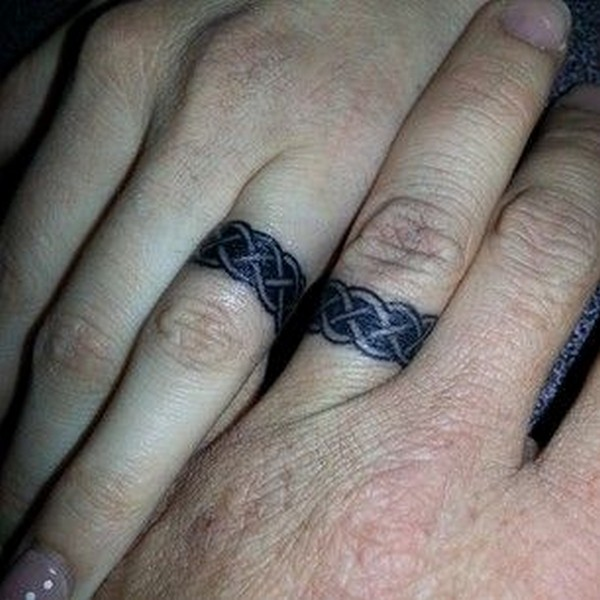Celtic Ring Tattoos For Couple