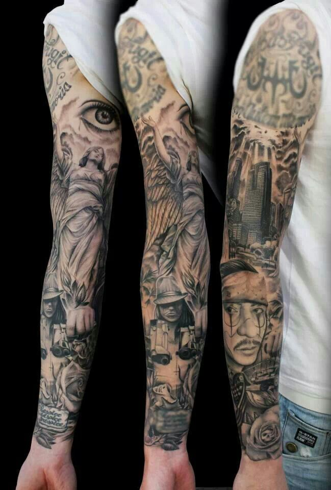 Full Sleeve Tattoo Design Idea For Men