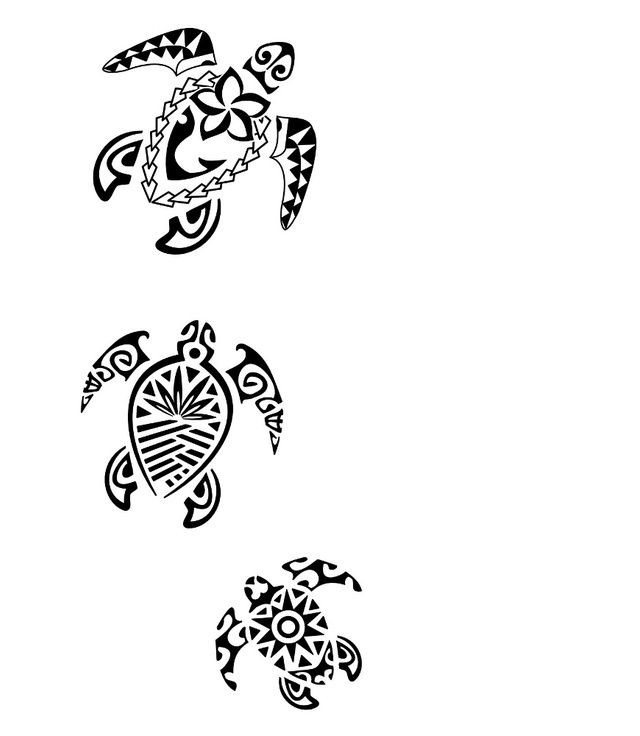 Hawaiian Turtle Tattoo Design Ideas