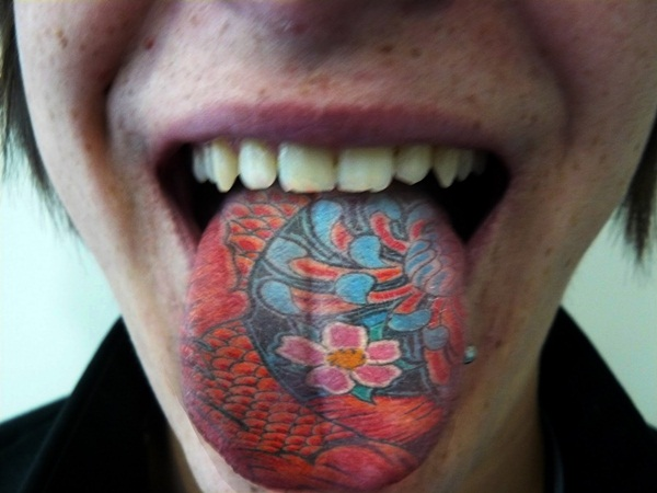 Japanese Tongue Tattoo Design Idea