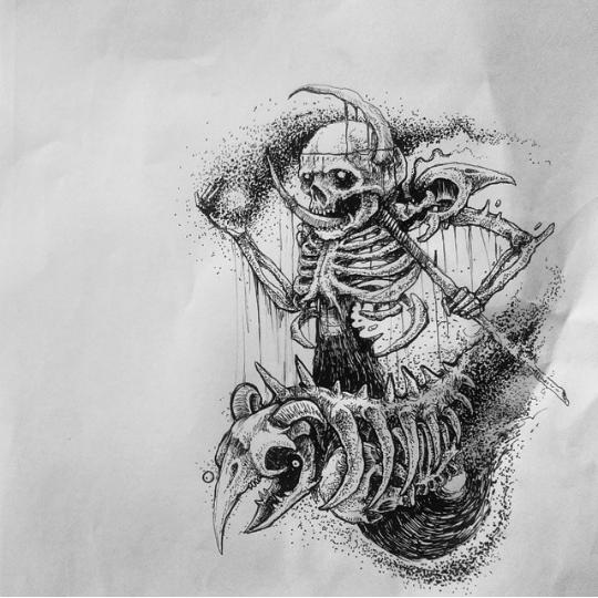 Skeleton Tattoo Design Idea