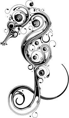 Seahorse Tattoo Design Idea
