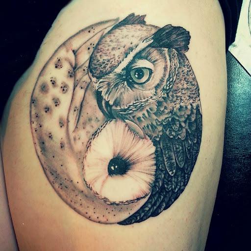 owl tattoo images designs. Black Bedroom Furniture Sets. Home Design Ideas
