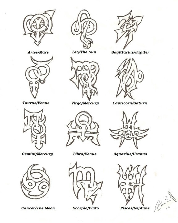 zodiac tattoo designs ideas - Tattoo Idea Designs
